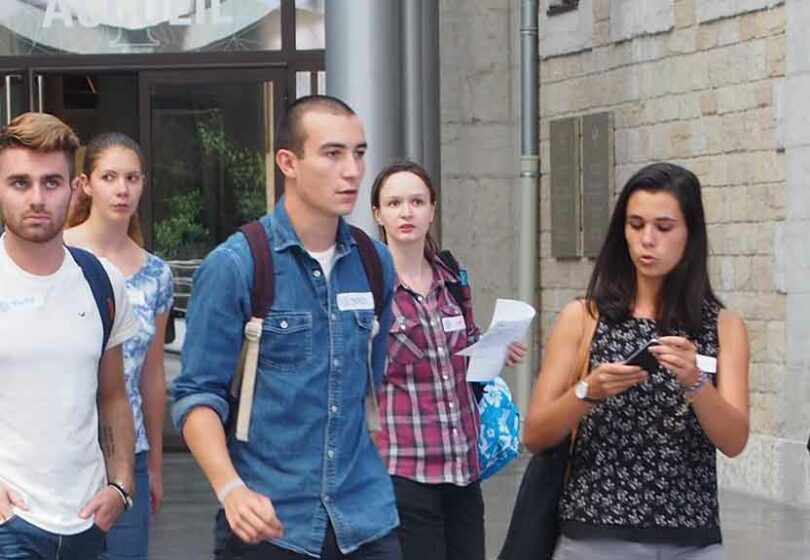 ESTBB Etudiants sur le campus Saint-Paul